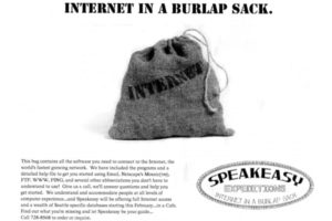 Web - Advert - Internet in a Burlap Sack