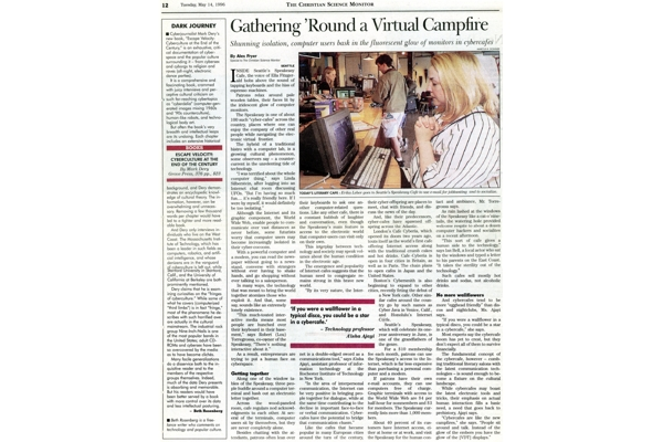Web - PR Cafe - Christian Science Monitor Profile - May 14 1996 - 2