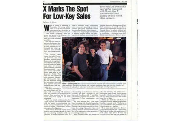 Press: X Marks the Spot for Low-Key Sales – Nation's Business