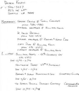 Web - Crew - Derek Kavan - Written Resume