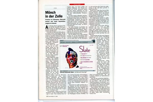 Press: Monk in the Cell – Der Spiegel