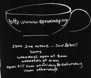 Web - Sign - Speakeasy Info BW
