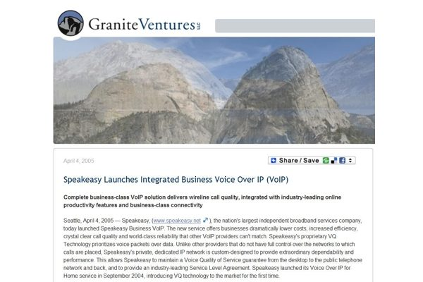 Press Release: Speakeasy Launches Integrated Business Voice Over IP (VoIP)